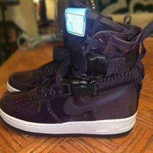 Nike purple air force 1s